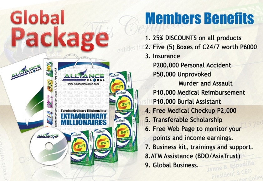 Alliance in Motion Global Package